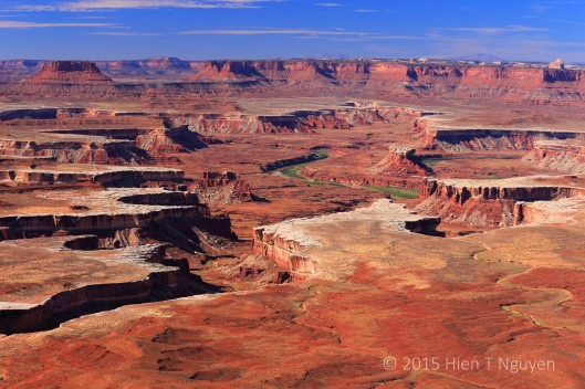 View of Islands in the Sky district in Canyonlands National Park, from Green R