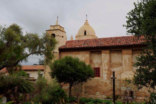 Carmel Mission, side view.