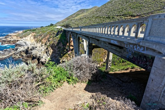 One of several bridges built along California Highway 1 in the Big Sur area.